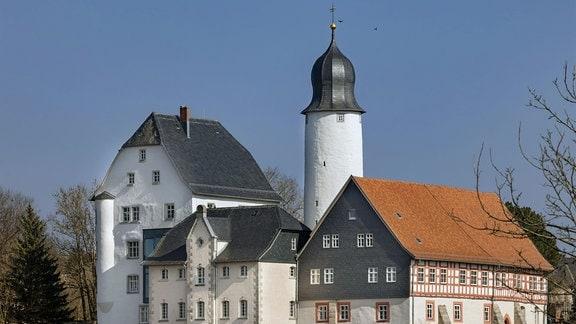 Blick auf Schloss Eisfeld