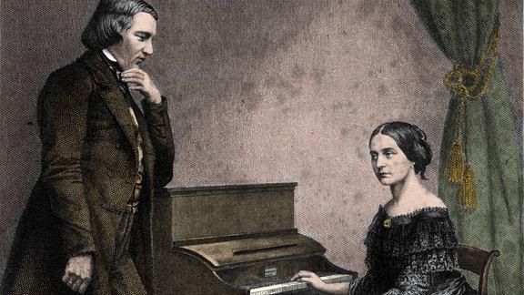 Aufnahme von Robert und Clara Schumann
