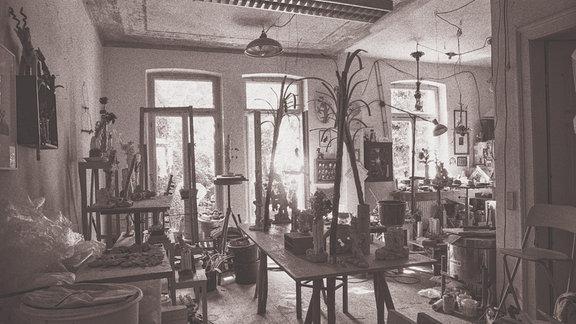 Das Atelier von Martin Neubert, Weimar, November 2019