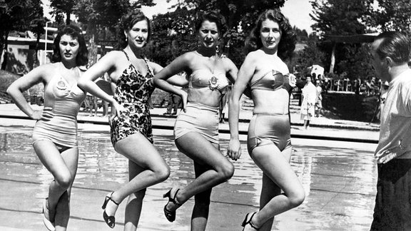 Sophia Loren posiert bei Miss-Wahl 1950.