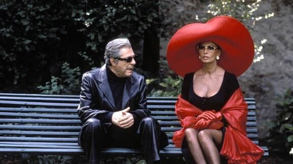 Sophia Loren und Marcello Mastroianni