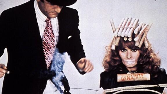Filmszene 'Die Puppe des Gangsters' mit Sophia Loren und Marcello Mastroianni
