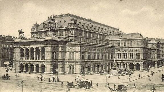 Wien Operntheater und Kärtnerstraße, um 1935
