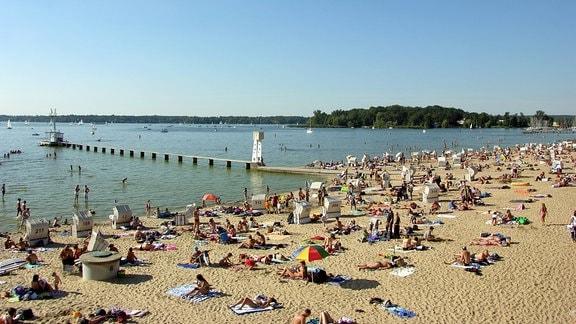 Strandbad Wannsee in Berlin Grunewald