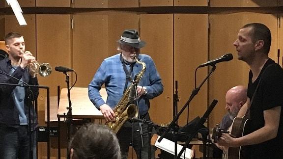 Studiosession Ralph Schüller und Band