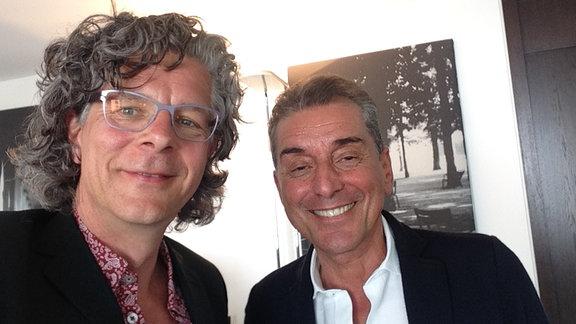 Carsten Tesch und Michel Friedmann (r.)