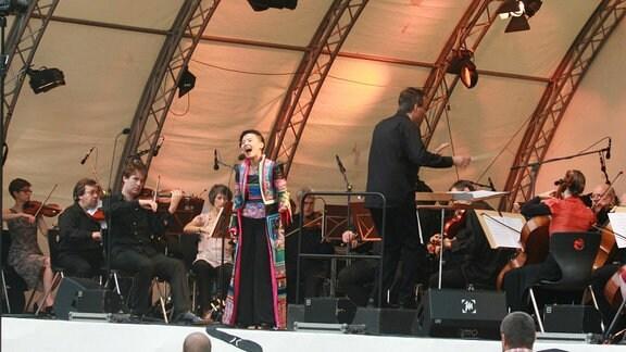 Gong Linna (China) und die Thüringer Symphoniker Saalfeld-Rudolstadt unter Oliver Weder
