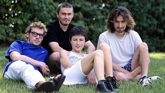Frühes Bandfoto «The Cranberries», 1996