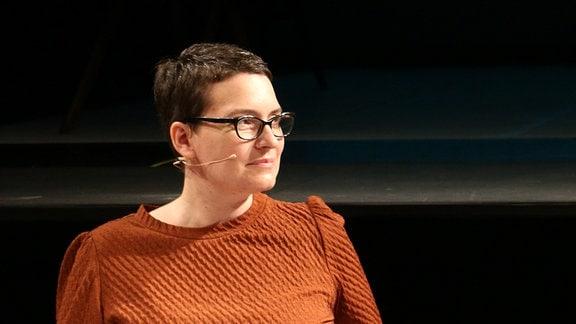 Intendantin Winnie Karnofka vom Theater der Jungen Welt.