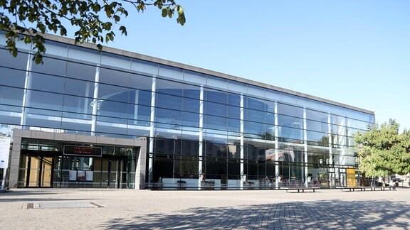 Erfurt, Theaterplatz, Blick auf das Theater