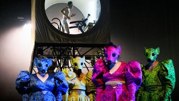 """""""Die Rättin"""" am Schauspiel Leipzig, Probe"""