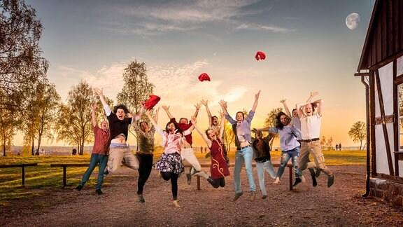 'Ein Sommernachtstraum': Das Freiberger Schauspielensemble auf der 'Alten Elisabeth'