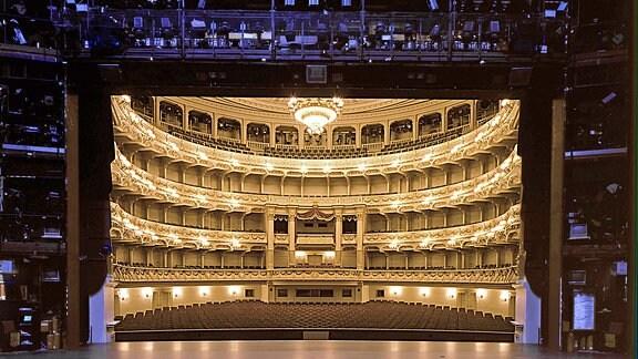 Bühne und Zuschauerraum der Semperoper