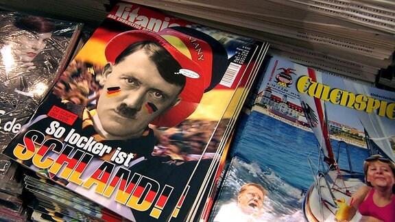 aktuelle Magazine Titanic und Eulenspiegel