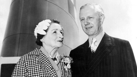 Vera Brittain mit Ehemann Professor George Catlin