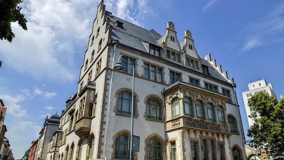 Volkshaus, Carl-Zeiss-Platz, Jena, Thüringen, Deutschland