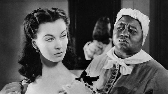 """Szenen aus dem Film """"Vom Winde verweht"""" mit Vivan Leigh und Clark Gable"""