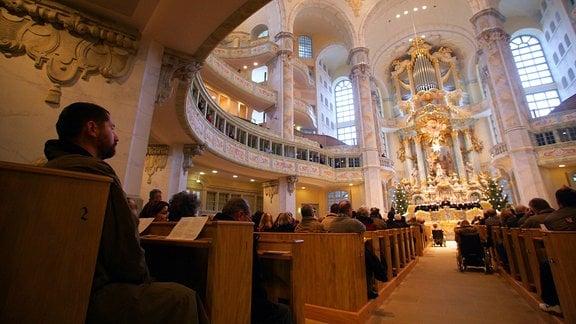 Christvesper in der Dresdner Frauenkirche