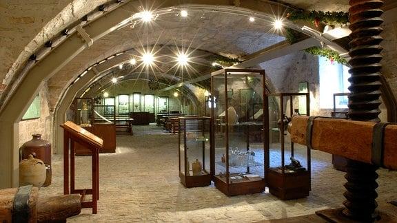 Ausstellungsräume des Weinmuseums auf Schloss Neuenburg