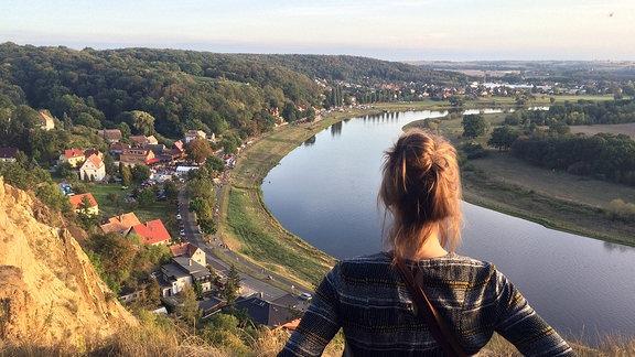 Ausblick auf die Elbe in Diesbar-Seußlitz.