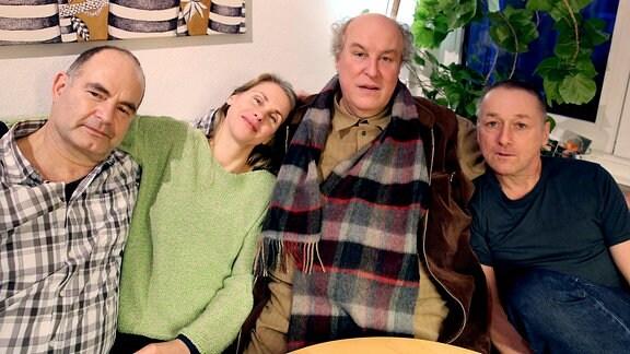 """Hörspiel """"Wo fängt die Wand an"""" mit Martin Reinke, Tanja Schleiff, Josef Ostendorf und Markus Hering (v.l.n.r)"""