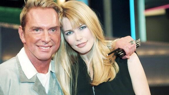 Claudia Schiffer mit Wolfgang Joop