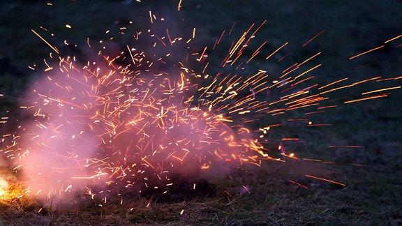 Explodierender Böller