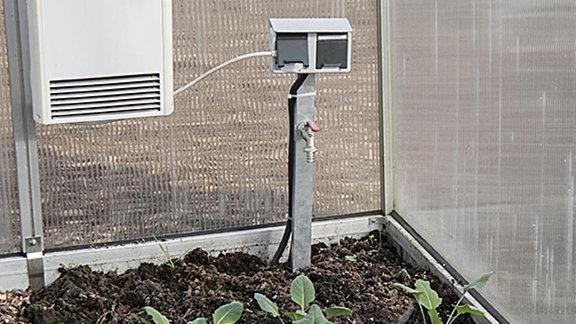 Gewächshausheizung,elektrisch, Instalation Feuchtraum