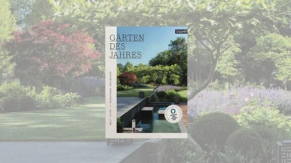 Cover eines Buches mit einem Garten mit Wasserachse.