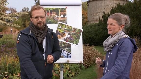 Jens Haentzschel neben einer Frau