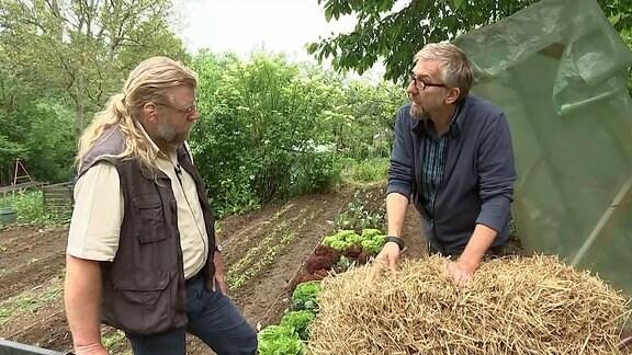 Jörg Heiss im Gespräch mit Gartenexperte Martin Krumbein