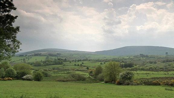Hügelige Landschaft in Irland