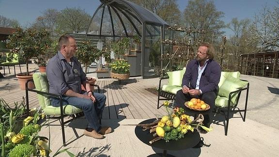 Andreas Petzold, Schlossgärtner Belvedere, im Gespräch mit Moderator Jens Haentzschel