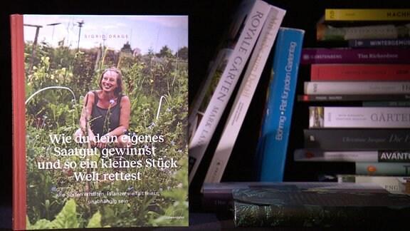 Buch in einem Regal