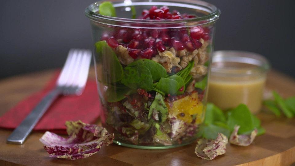 Winterportulak-Salat mit Orangen und Radicchio | MDR.DE