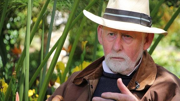 Der Eigentümer des Gartens Clos du Peyronnet in der Stadt Menton in Südfrankreich, William Waterfield.