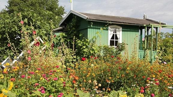 Kleingartenmuseum Landskrona in Schweden von außen.