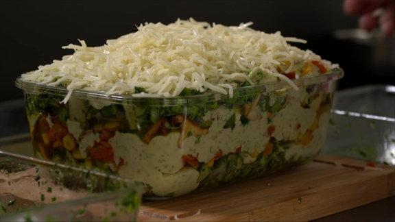 Gemüse-Lasagne vor dem Überbacken