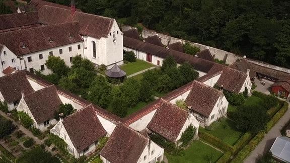 Kartause Ittingen in der Schweiz, Luftbildaufnahme