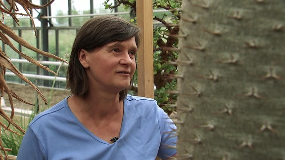 Kakteenexpertin Marianne Ehlers vom egapark