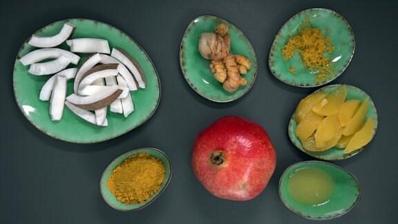 Zutaten für die Orangensuppe