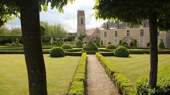 Park von Château de Brécy in Frankreich.