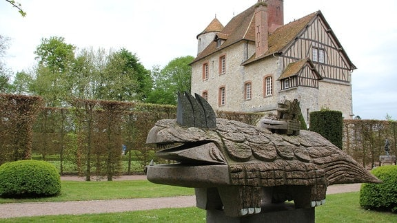 Fantasietier im Parc Vascoeuil in Frankreich.