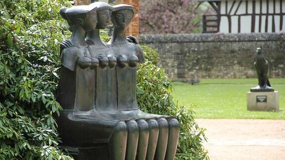 Metallskulptur im Parc Vascoeuil in Frankreich.