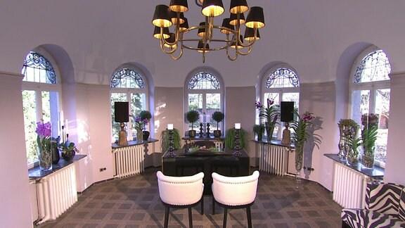 Wintergarten-nachher- Ein Traugarten in einer Quedlingburger Villa mit Zimmerpflanzen