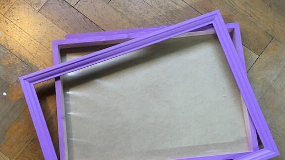 Form für bepflanzten Bilderrahmen basteln