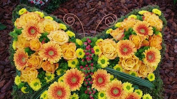 Grabgesteck Schmetterling
