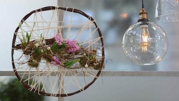 Traumfänger mit Pflanzen
