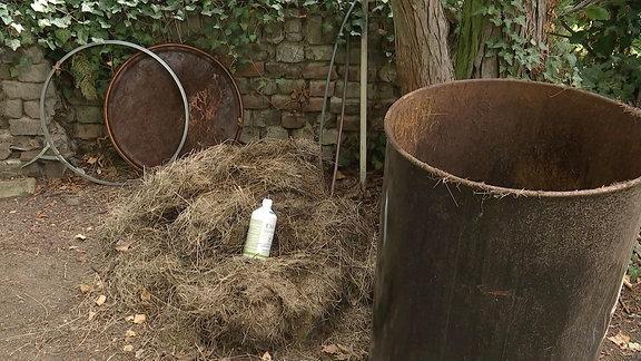 Mit Grasschnitt mulchen