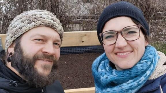 Selfie von Hobbygartner Frank Krause und Nadine Witt.